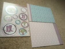 Hunkydory Kit - Bottom Of The Garden - Die Cut Topper Sheet & 2 Backing Cards