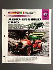 "Aero-Engined Cars ""Weird & Wonderful""  IMP Hot Cars Spec Sheet Awesome L@@K"