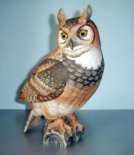 "Goebel Gunther Granget Great Horned Owl 10""H Porcelain #28/1000 Signed $700 New"