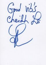 Cheikh lo autógrafo signed 10x15 cm tarjeta de índice