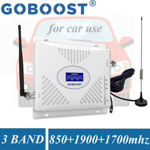850 1700 1900MHz Cell Phone Signal Booster 2G 3G 4G Band 2/4/5 Repeater Car Use