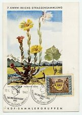 Germany 1941 Kwhw Colour Postcard Used In 1943 With Special Stamp Day Cancels