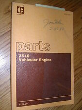 CAT Caterpillar 3512 PARTS MANUAL BOOK CATALOG ENGINE VEHICULAR DIESEL 51Y1 & UP