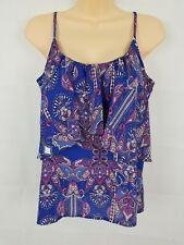 Cotton On Women's Sleeveless Paisley Top Pink Blue White Purple Size S