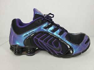 Nike Shox Navina - Women's Size: 10 - Black / Iridescent Purple - 356918-055