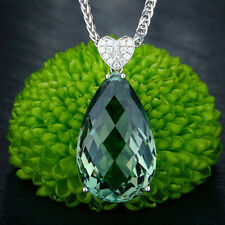 Luxury Green Natural Gemstone Fashion Jewelry for Women Pendant Necklace