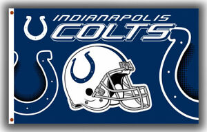 INDIANAPOLIS COLTS 3'X5' NFL FLAG/BANNER :FAST FREE SHIPPING