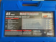 Mastergrip 65 pc Tool Set - DIY Home Garage Tools w Case NEW OPEN BOX