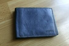 Fossil Mens Leather Wallet blue