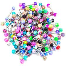 20 x Colorful Women Tongue Ring Bar Stud (Random Color) BT P7U3 L8K6