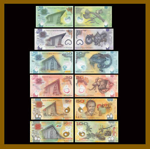 Papua New Guinea 2 - 100 Kina (6 Pcs Set), 2013-2018 P-Set Polymer Unc
