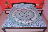 Indian Queen Size Tapestry Cotton Indian Hippie Bed Sheet With 2 Pillow Covers