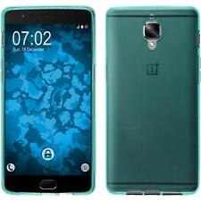 Silicone Case for  OnePlus 3T transparent turquoise + protective foils
