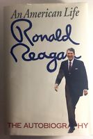RONALD REAGAN - SIGNED FIRST EDITION - AN AMERICAN LIFE Autograph Plate