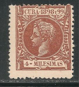 1Cuba #159 (A19) FVF MINT LH - 1898 4m King Alfonso XIII (Infant Type)