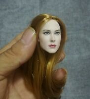 1/6 Female Head Sculpt Pale Blond Hair Head Carving F 12'' Figure Toy