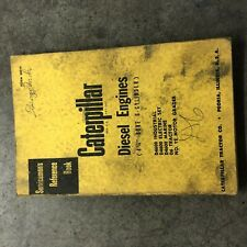 Cat Caterpillar Diesel Engine Servicemens Reference Book Manual 6 Cyl 4 14