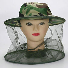 Trendy Practical Mosquito Bug Insect Bee Net Mesh Head Face Protector Hat Cap CH