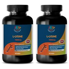 essential amino acid - L-LYSINE 1000mg (2 Bottles) - create collagen