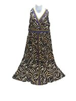 INC International Concepts INC Dress Plus Size 2X Surplice Tiger-Print Maxi
