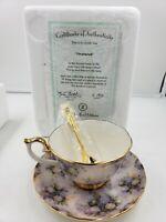 Bradford Editions Lena Liu's Treasured Teacup, Saucer & Spoon NEW A7975 w/ cert