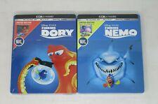 New! 2-Pack - Finding Nemo + Finding Dory Steelbook (4K Uhd + Blu-ray + Digital)