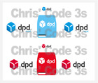 Code 3 Adhesive Vinyl Decal Suit 1/43 Mercedes Sprinter - DPD Blue and Red