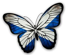 LARGE Beautiful Butterfly Design With Scottish Saltire Scotland Flag car sticker