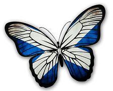 Beautiful Butterfly Design With Scottish Saltire Scotland Flag vinyl car sticker