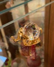 Elephant crystal figurine