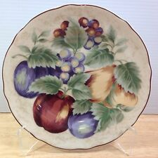 Napa Valley Noble Excellence 1 Round Salad Plate Fruit Grapes Apples Indonesia