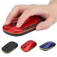 Ultra-thin 2.4G 1200DPI USB Wireless Mouse Ergonomic Optical Mouse For Laptop