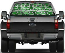 Punch Lime Green Carbon Fiber Rear Window Graphic Decal for Truck SUV Vans
