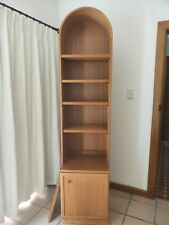 Authentic Parker Mid Century Modern teak bookcase with curved top + cabinet base