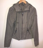 Size M (UK 12) Bench Womens Ladies Girls Casual Jacket Brown Hood 100% Cotton