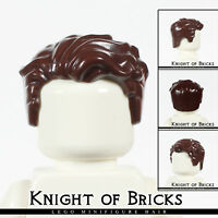 LEGO Minifigure Hair DARK BROWN 23186 Male Short Swept Left Tousled