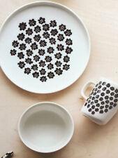 marimekko Puketti porcelain  mug, plate, bowl,  3pcs. White