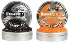"Crazy Aaron's Thinking Putty Scaredy Cat & Jack O' Lantern 3.2 Oz 4"" Tin 2 Pack"
