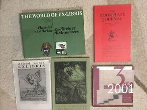 FIVE books on Exlibris.  1 is a limited edition. only 300 copies ever printed.