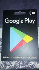 $10 Google Play gift card