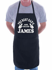 Personalised Birthday BBQ Apron Best Dad's Are Called James Fathers Day Gift
