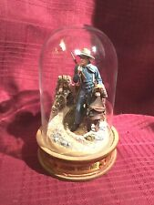 Franklin Mint Glassed Domed John Wayne Collectible.B5041 Carrying Saddle