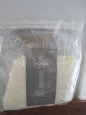"JCP Home Heather Rod Pocket Curtain Panel Ivory 50"" x 63"""