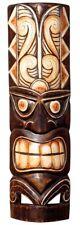 Schöne 50 cm Tiki Holz Maske Neuseeland Maori Wandmaske Handarbeit Bali Maske86