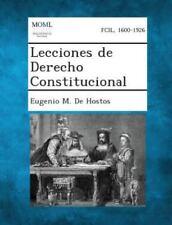 Lecciones de Derecho Constitucional (Paperback or Softback)