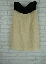 GEORGE Evening dress Sz 8 Black, beige shell BNWT Strapless Cotton silk mix
