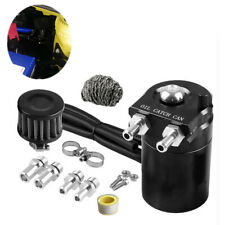 Aluminum Car SUV Engine Oil Catch Can Tank Reservoir Breather Filter Kit Black