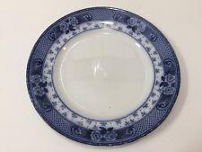 """Antique Ford & Sons Weir Burslem England Flow Blue Plate, 10 1/2"""" Diameter"""