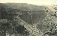 Birdseye Hawaii Volcanic Formations Waterfall 1920s RPPC Photo Postcard 20-4582