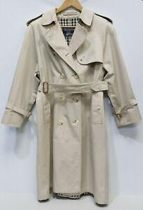 BURBERRY Authentic Vintage NOVA Honey Beige Long Trench MAC Coat Size 12/14- 225